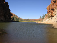 Glen Helen Gorge And Accommodation From Alice Springs Tourist Selfdrive Tourist Hire Guide And